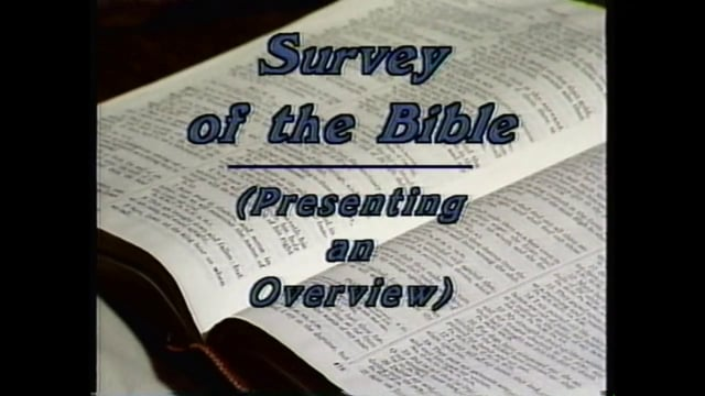 Lesson 2 - The Central Character of the Bible