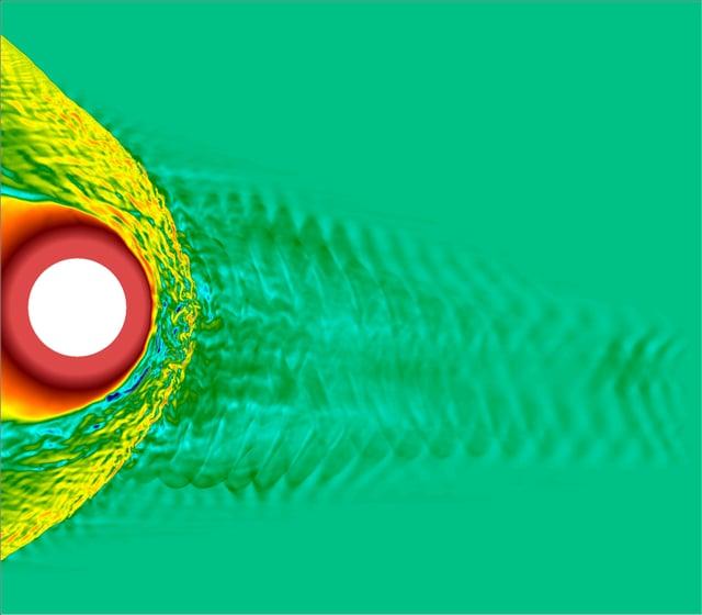Vlasiator hybrid-Vlasov equatorial plane 5° IMF, B magnitude