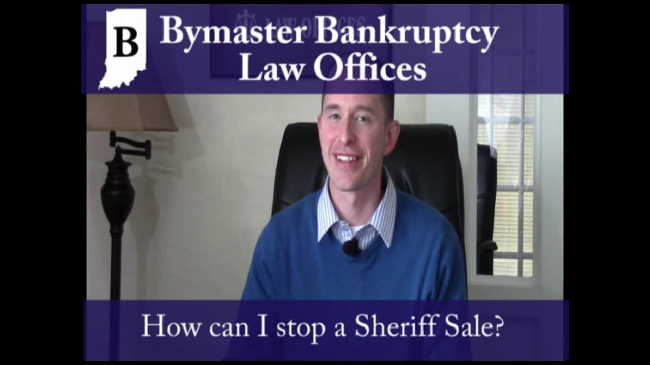 Can bankruptcy stop a sheriff sale?