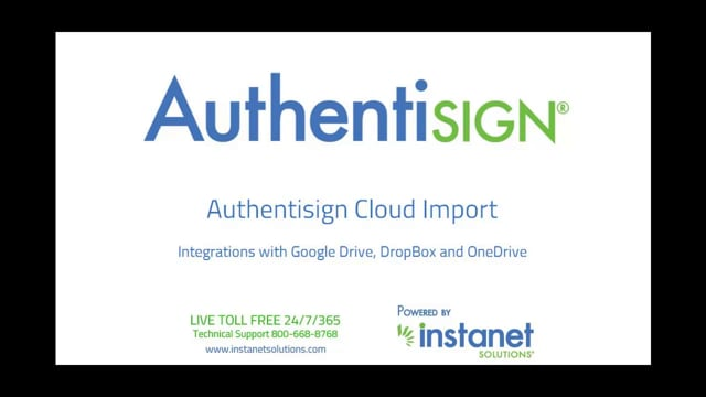 Authentisign Import a Document from The Cloud