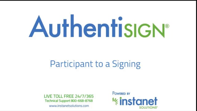 Participant to an Authentisign Signing