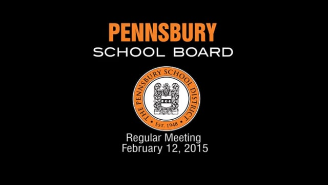 Pennsbury School Board Meeting for February 12, 2015