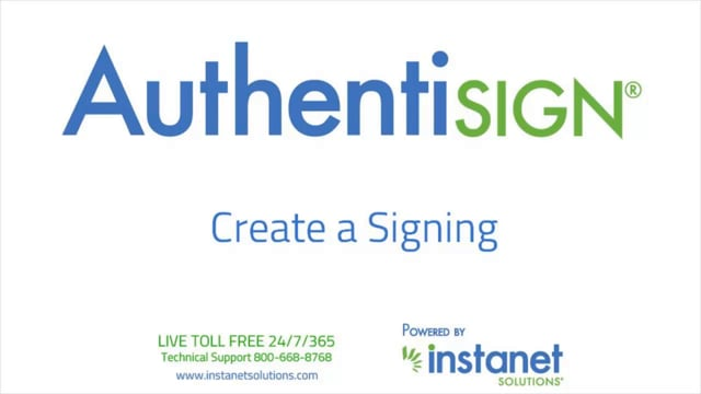 Authentisign_How Do I Create a New Signing