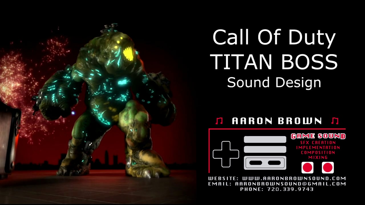 Titan Boss Creature - Call Of Duty