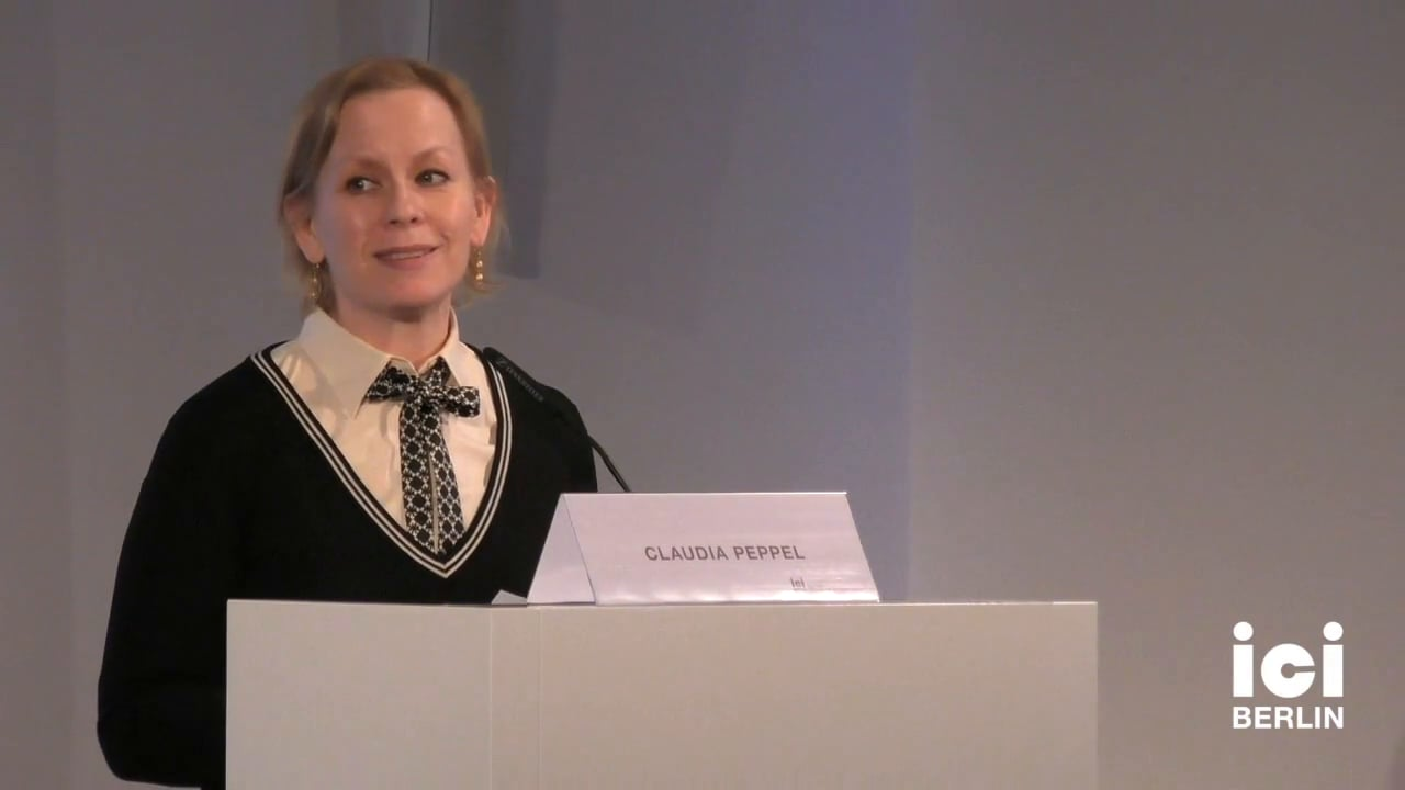 Introduction by Claudia Peppel [Part 1, 1]