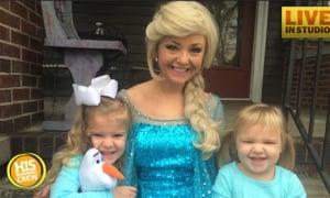 Princess Elsa Surprises Two of Her Biggest Little Fans