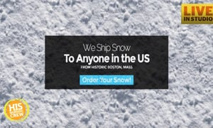 Man Selling Snow From His Yard