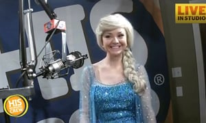 Elsa Stops by His Radio