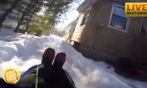 Dad Builds Backyard Luge Track