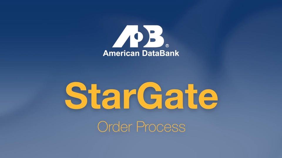 StarGate Order Process