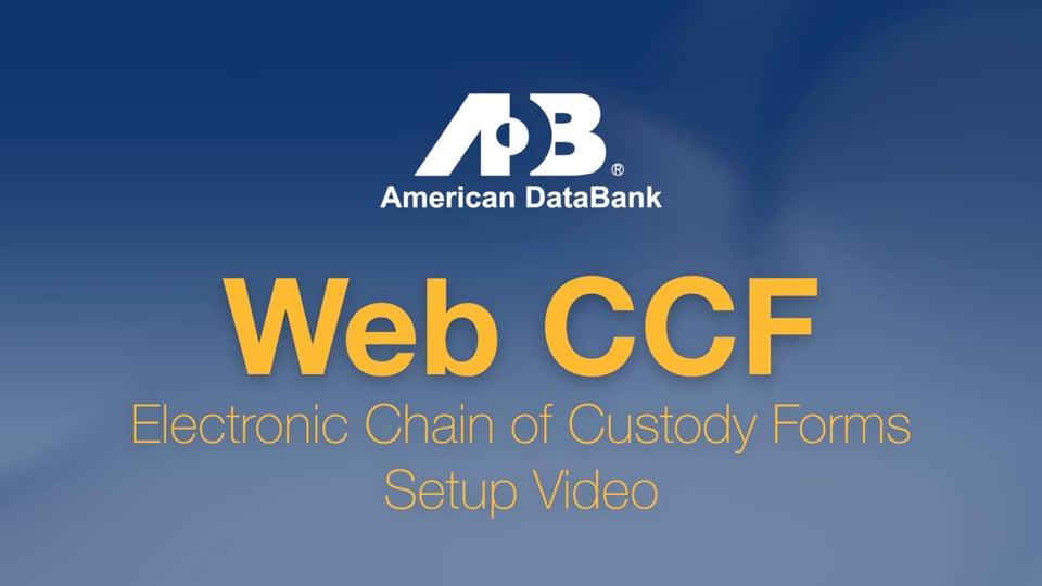Web CCF Set Up Video