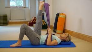 Pilates Stretch - Leg Stretch with a band
