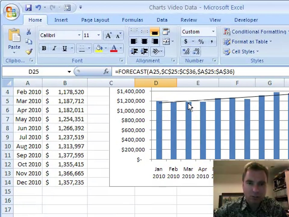 Excel Video 101 Forecasting Part 1