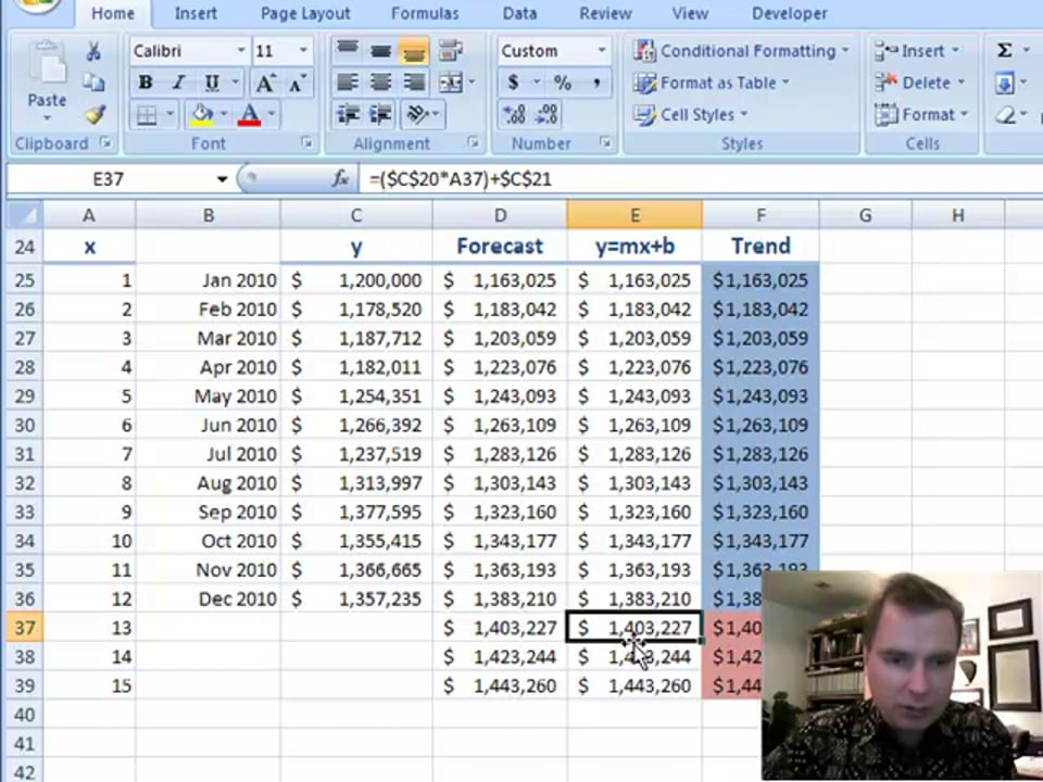 Excel Video 102 Forecasting Part 2
