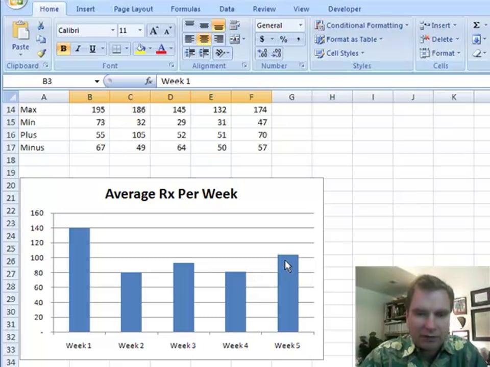 Excel Video 106 Error Bars