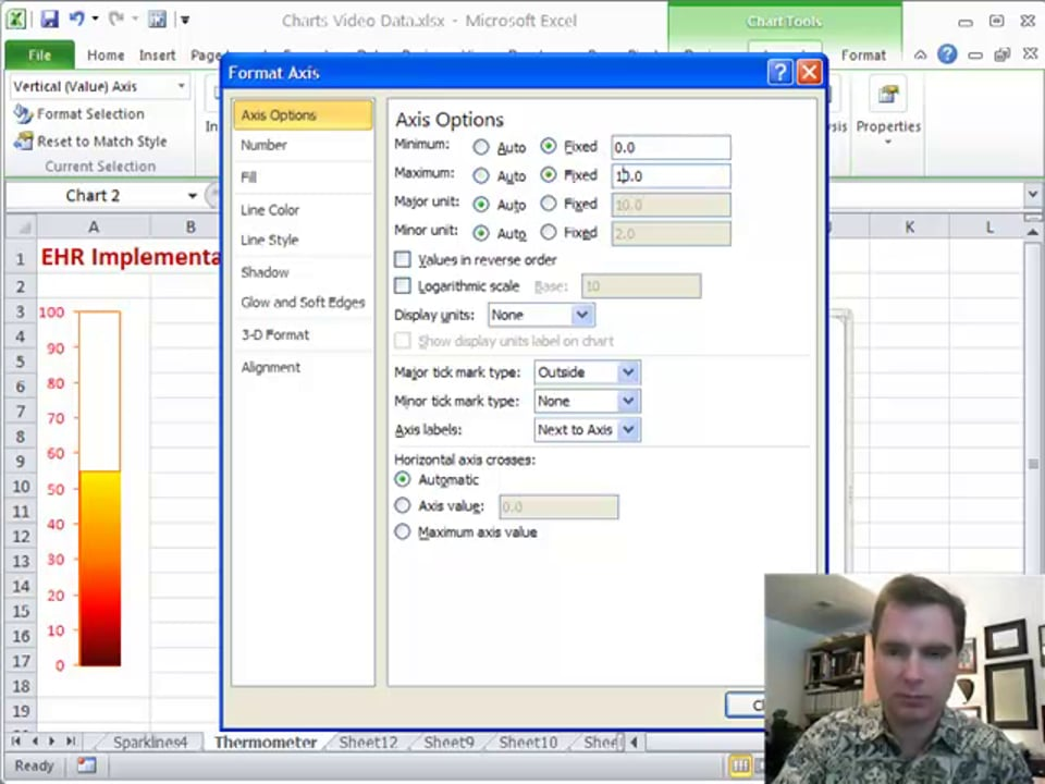 Excel Video 116 Thermometer Charts