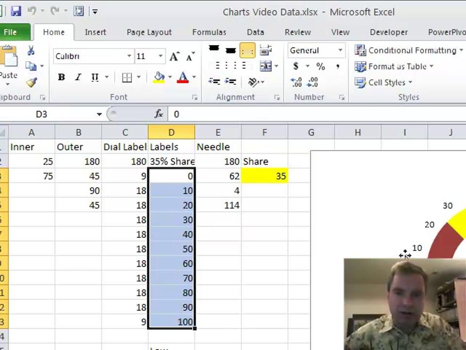 Excel Video 121 Fancier Speedometers