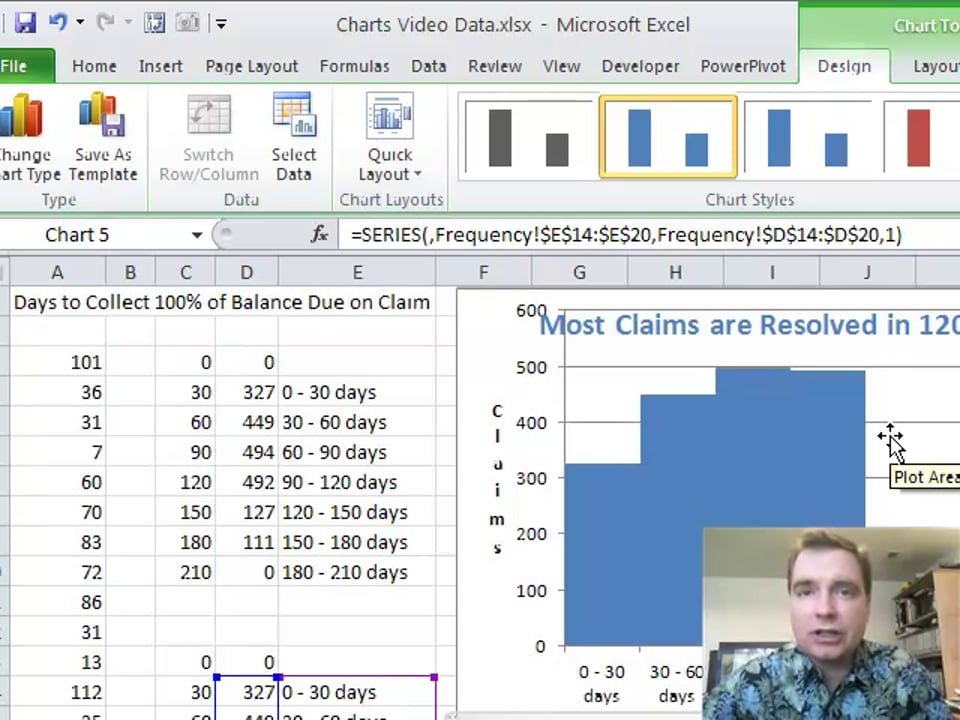 Excel Video 130 Frequency Charts