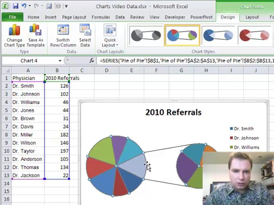 Excel Video 128 Pie of Pie Charts