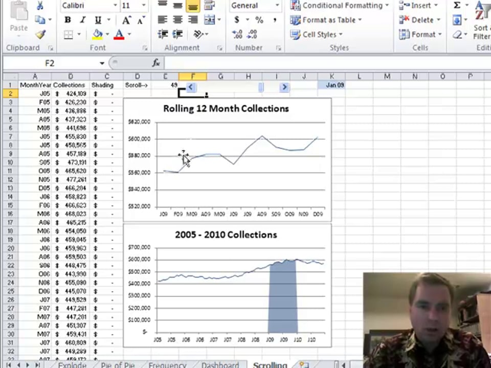 Excel Video 133 Scrolling Chart Overview