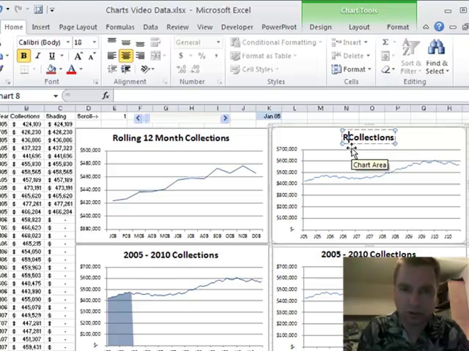 Excel Video 135 Creating the Scrolling Charts
