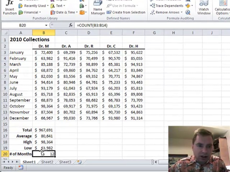 Excel Video 141 Basic Excel Functions