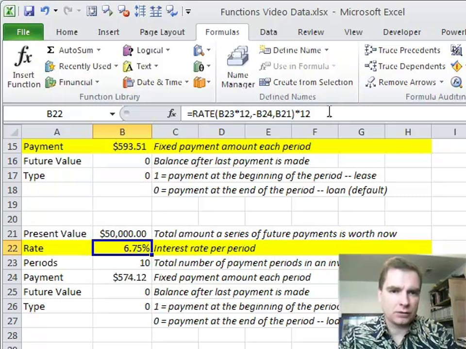 Excel Video 145 Rate and Future Value