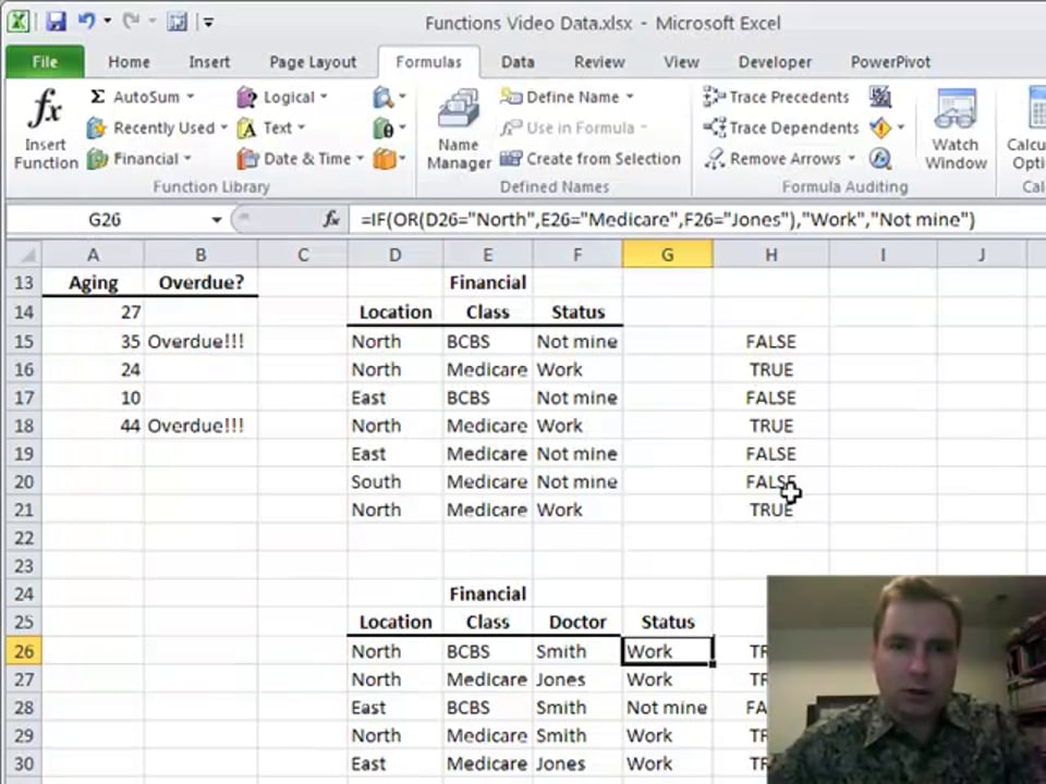 Excel Video 149 OR