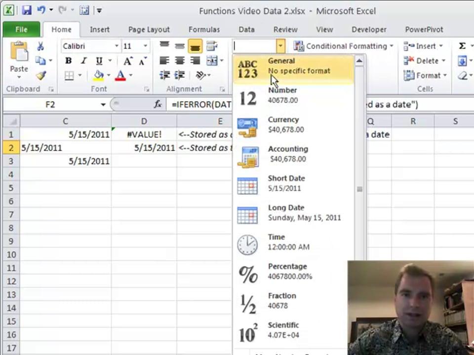 Excel Video 164 DATEVALUE
