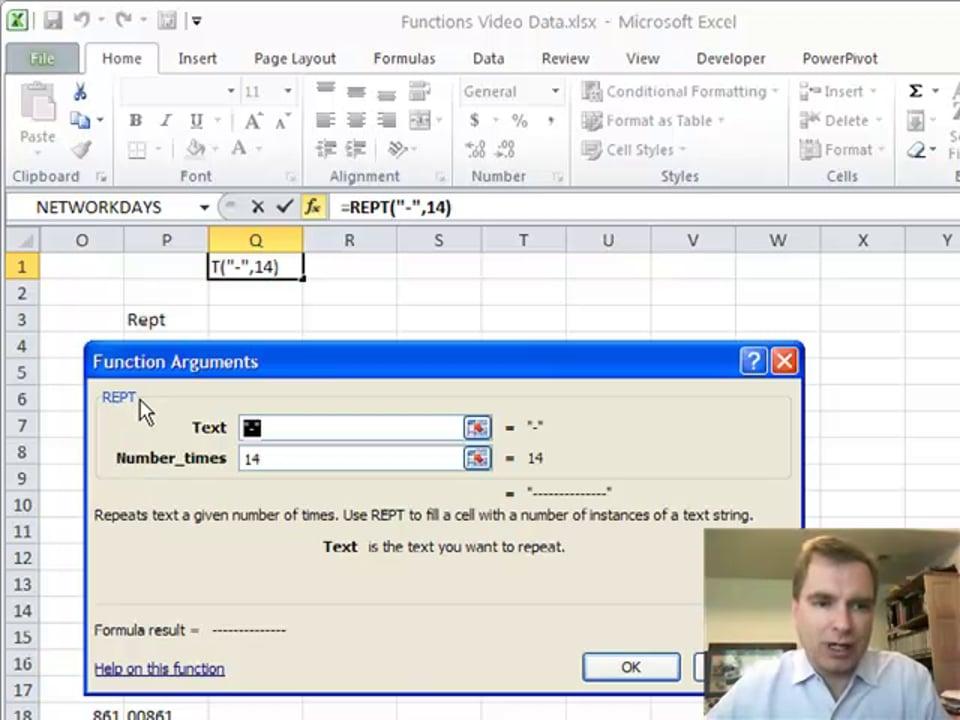 Excel Video 161 REPT