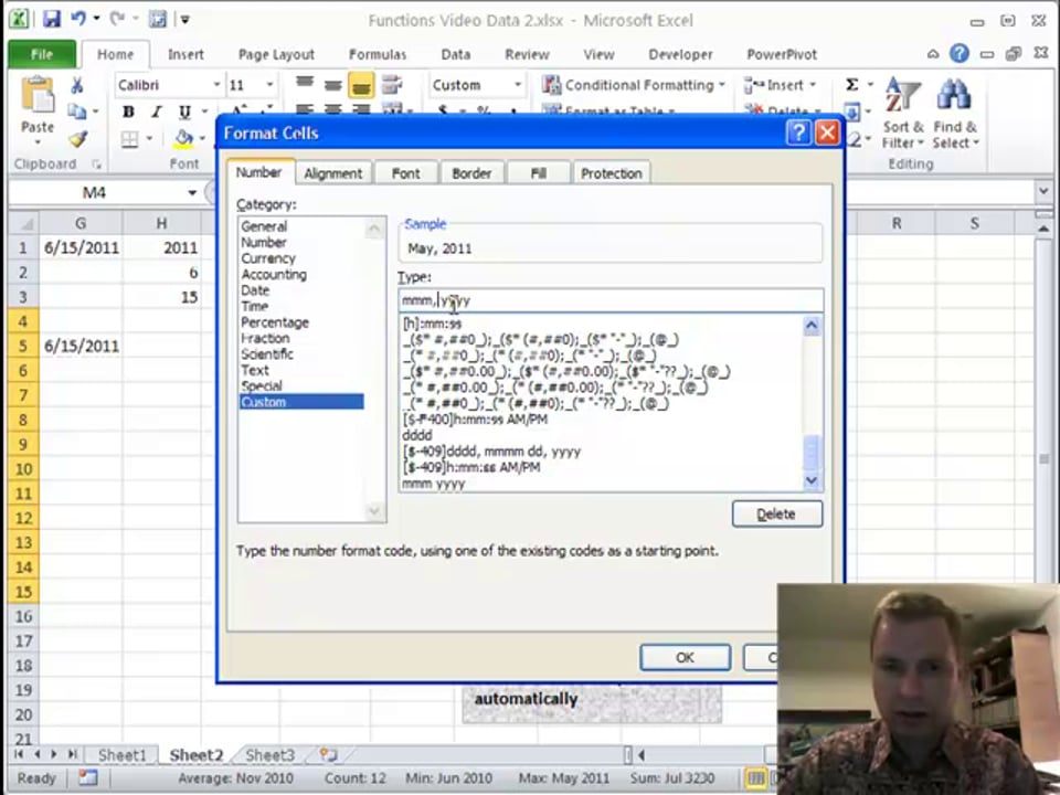 Excel Video 167 Using TODAY, DATE, YEAR, and MONTH to Automatically Update a Rolling Report