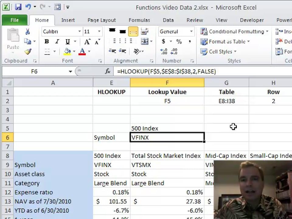Excel Video 175 HLOOKUP