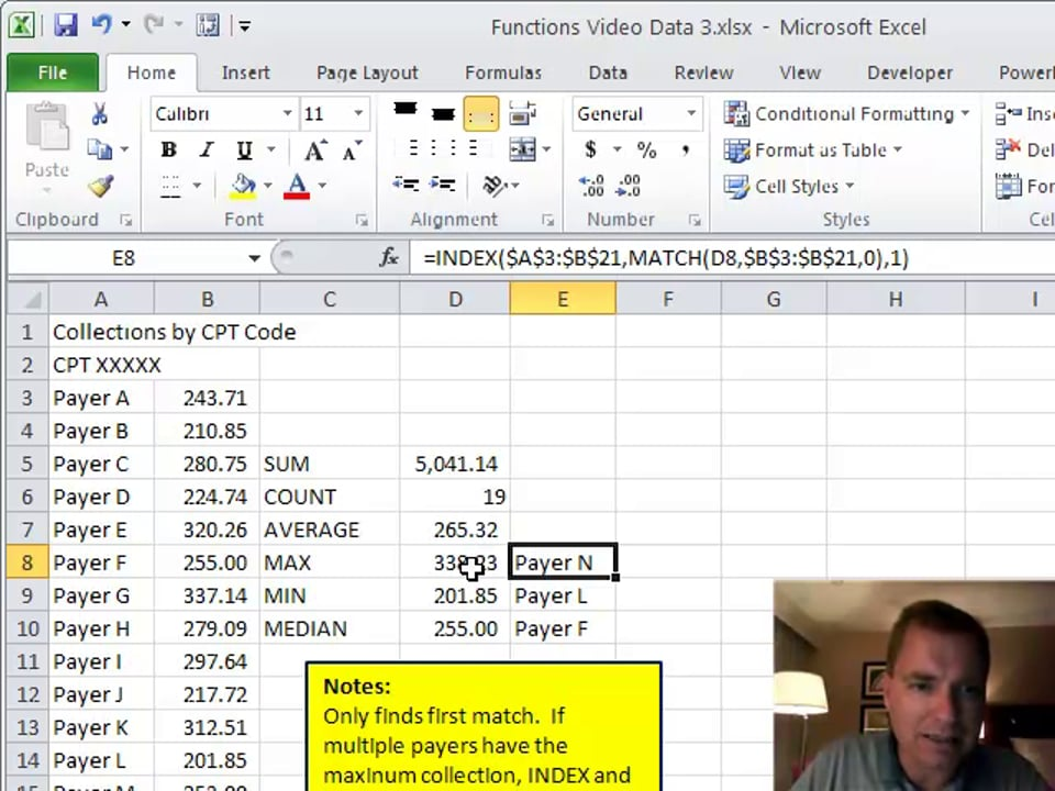 Excel Video 183 INDEX and MATCH as a Lookup