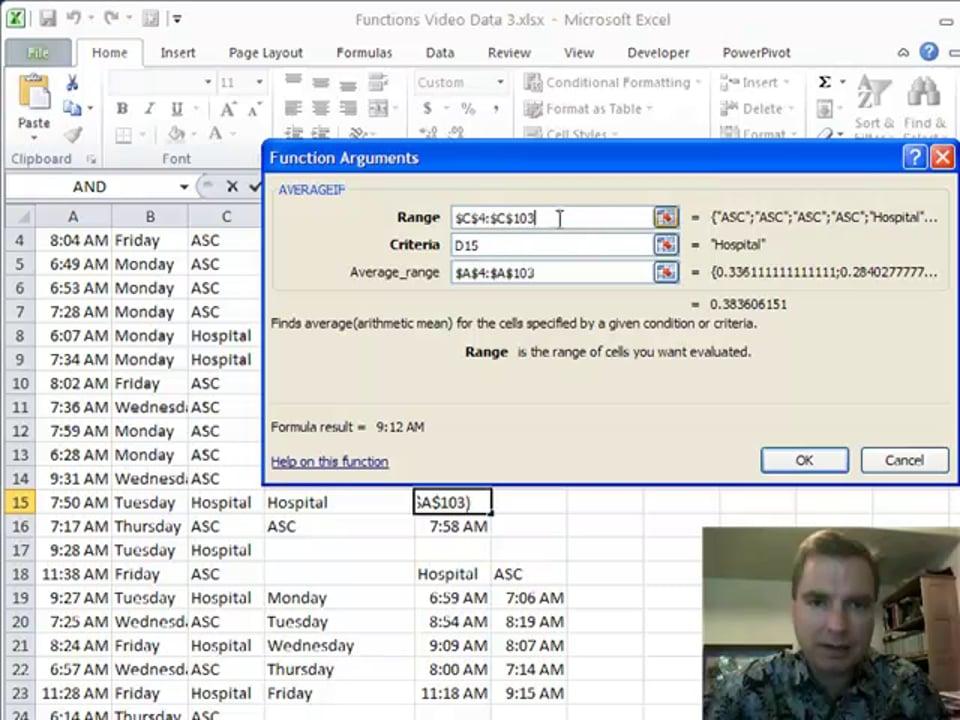 Excel Video 187 AVERAGEIF