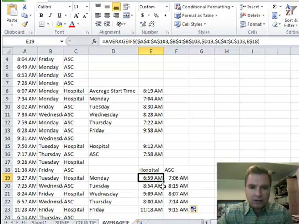 Excel Video 188 AVERAGEIFS