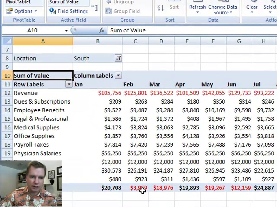 Excel Video 20 Format and Design Tricks for Consolidated Pivot Tables
