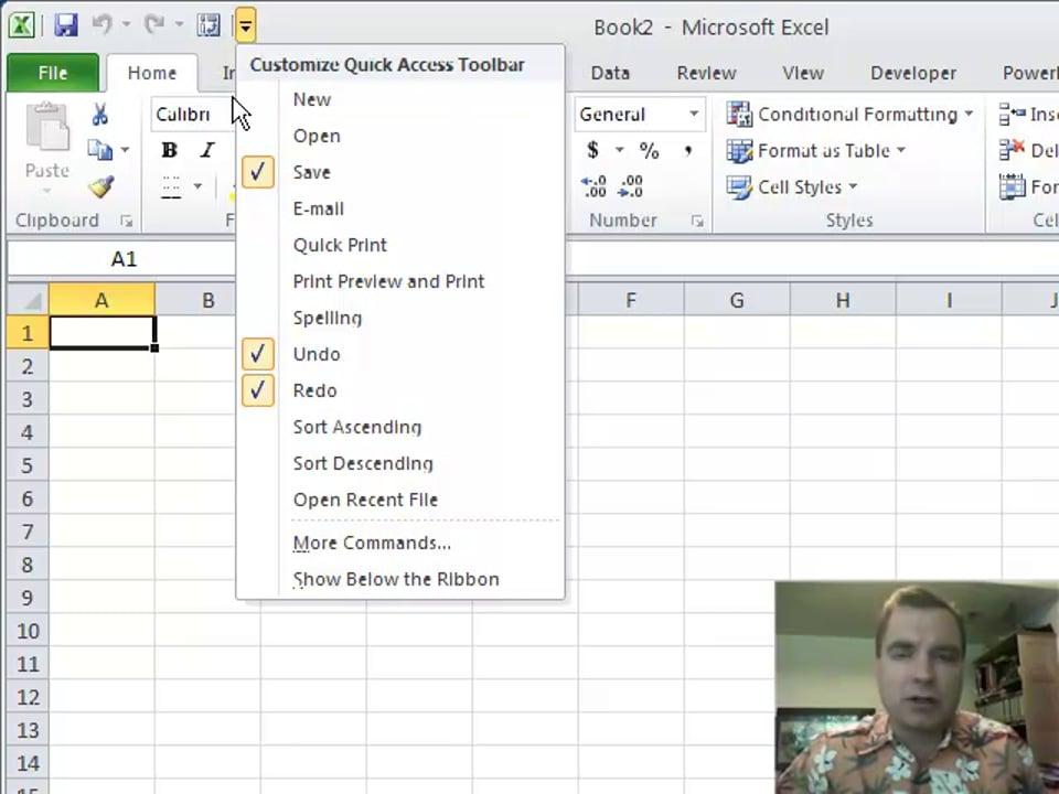 Excel Video 201 Quick Access Toolbar, Part 1