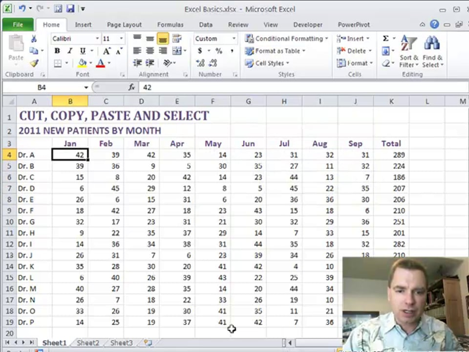 Excel Video 208 Selecting Cells with the Control and Shift Keys