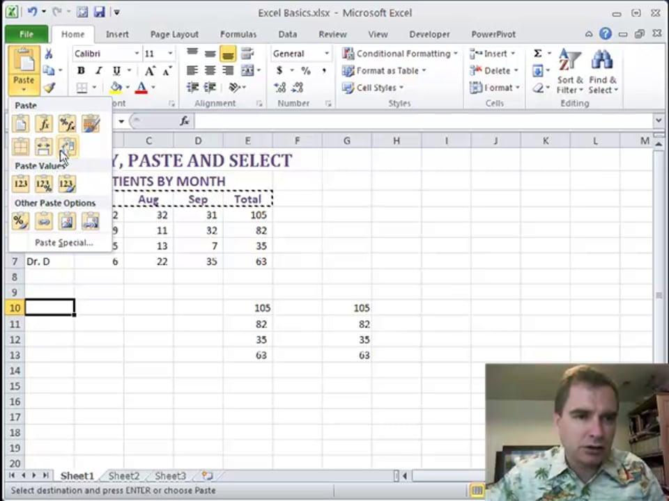 Excel Video 206 Paste Special