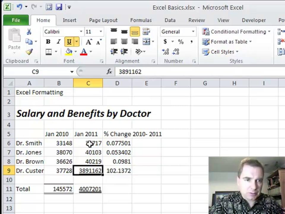 Excel Video 211 Format Cells, Part 1