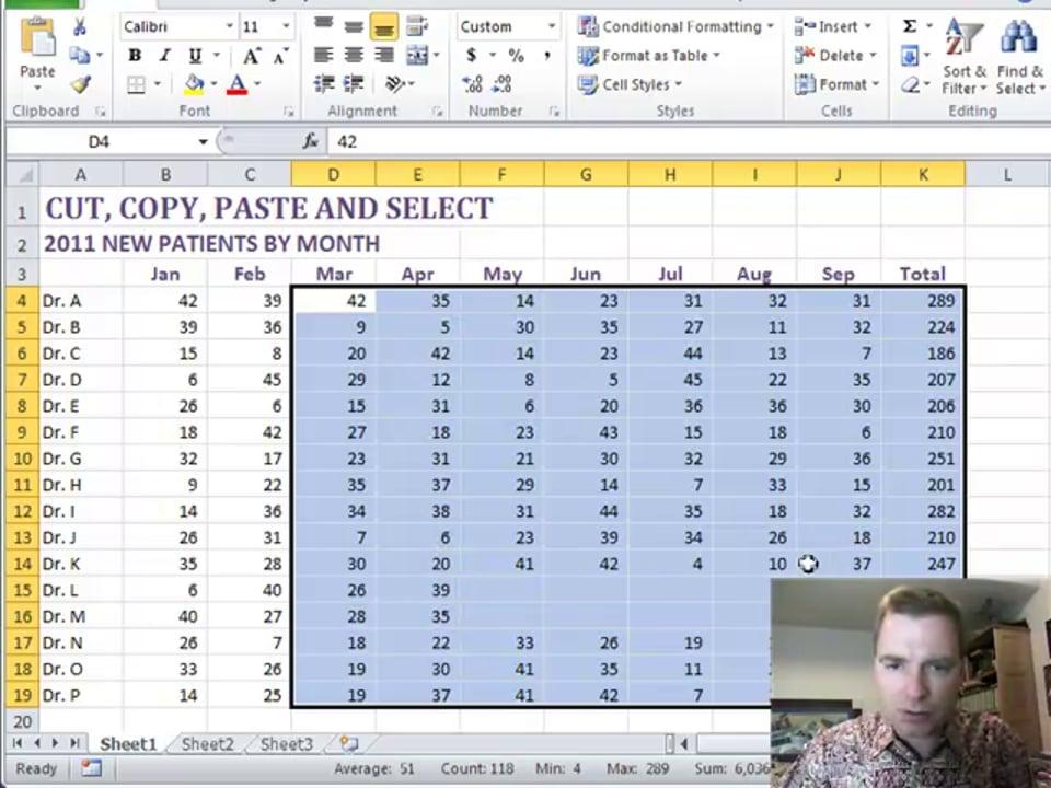 Excel Video 209 Shift + End + Arrow Key