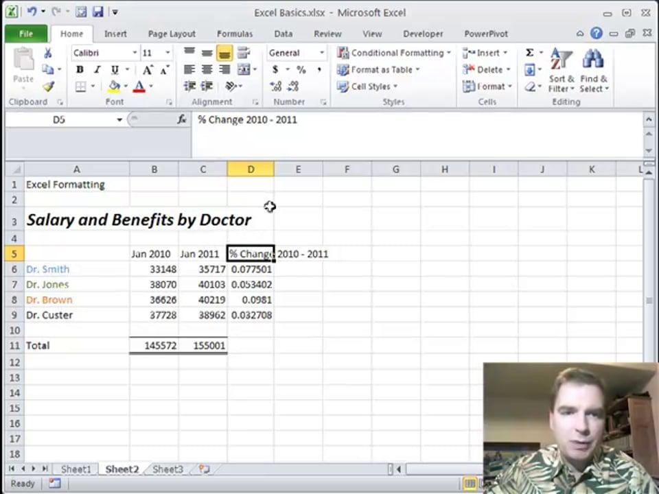 Excel Video 214 Wrap Text and Alt+Enter