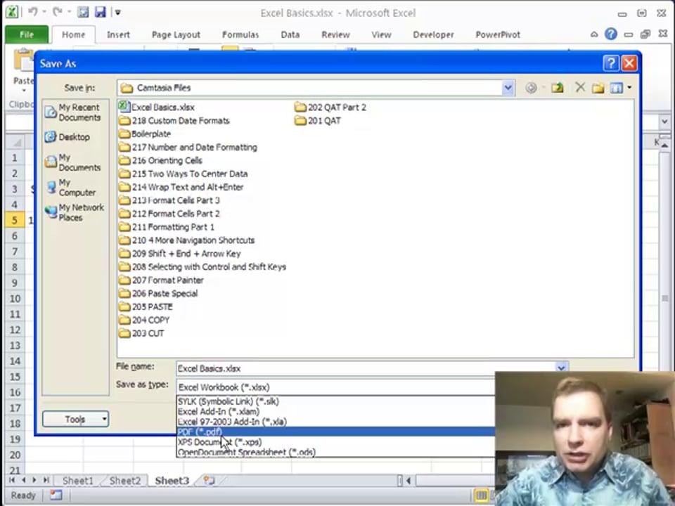 Excel Video 219 File Menu Basics
