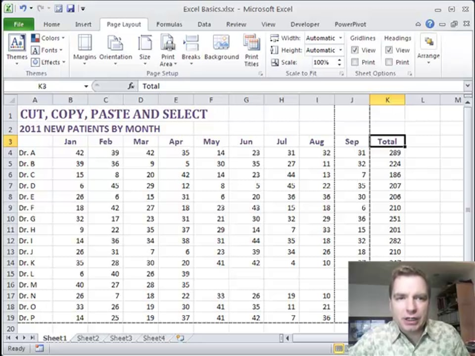 Excel Video 222 Setting Margins and Print Area