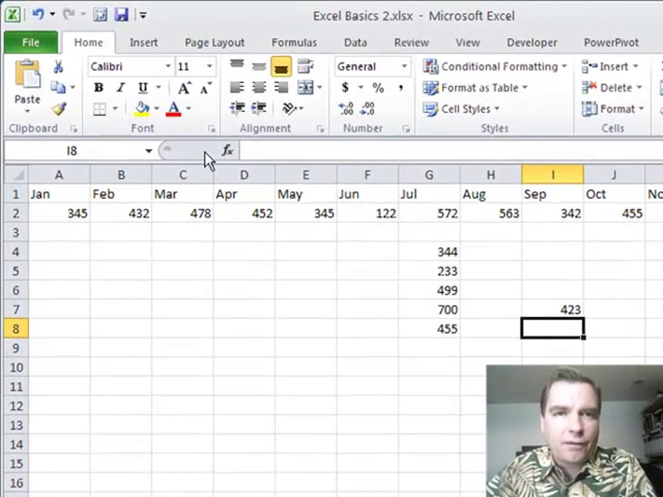 Excel Video 241 Navigating through Excel with the Enter Key