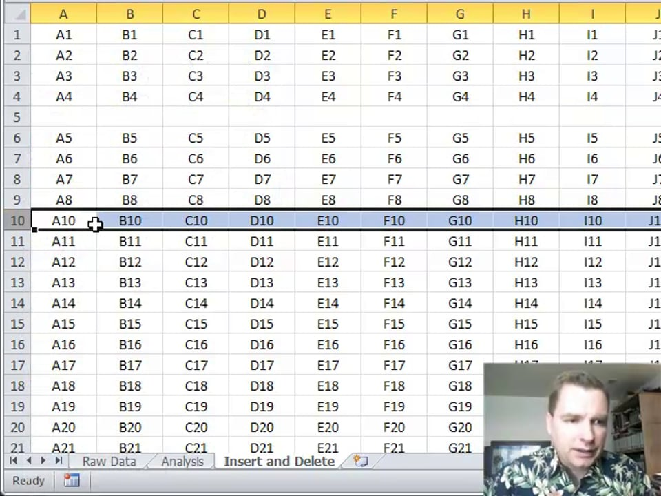 Excel Video 245 Insert and Delete Part 1