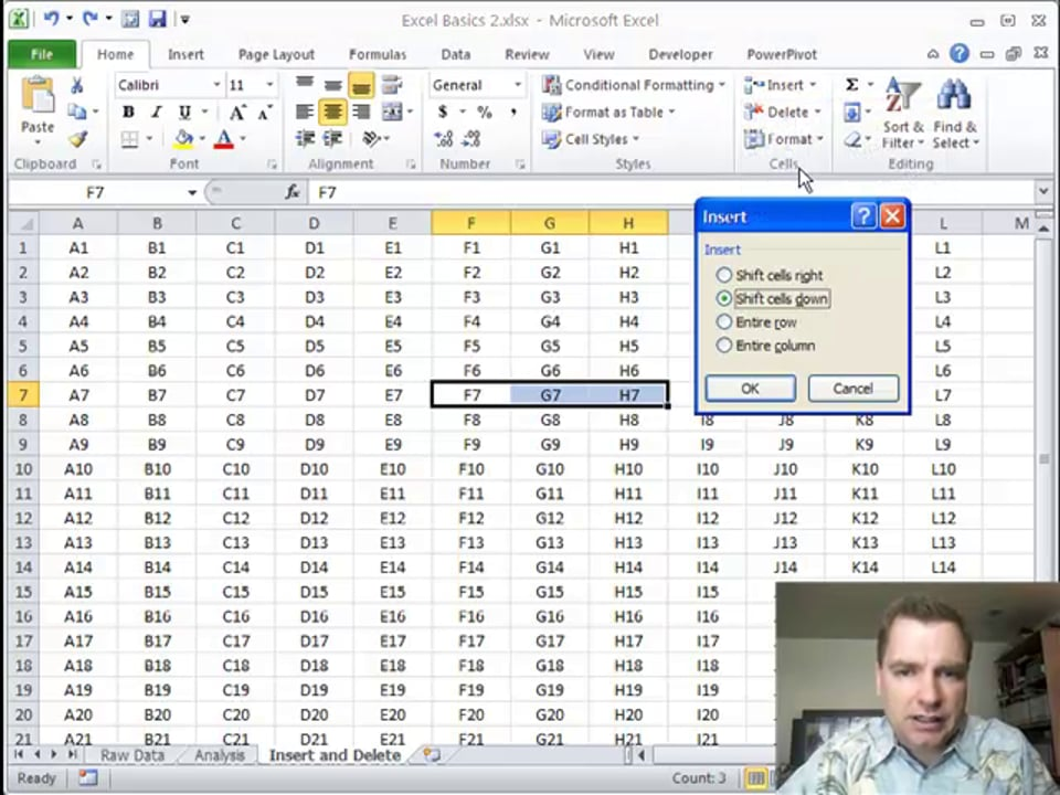 Excel Video 246 Insert and Delete Part 2