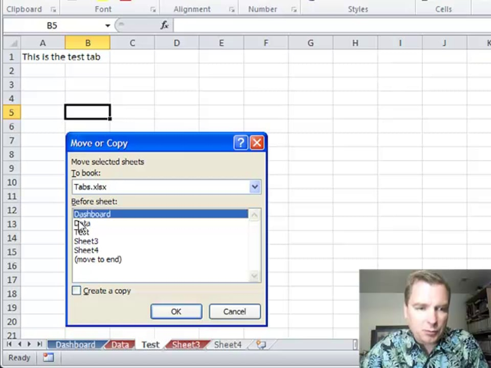 Excel Video 248 Moving and Copying Tabs