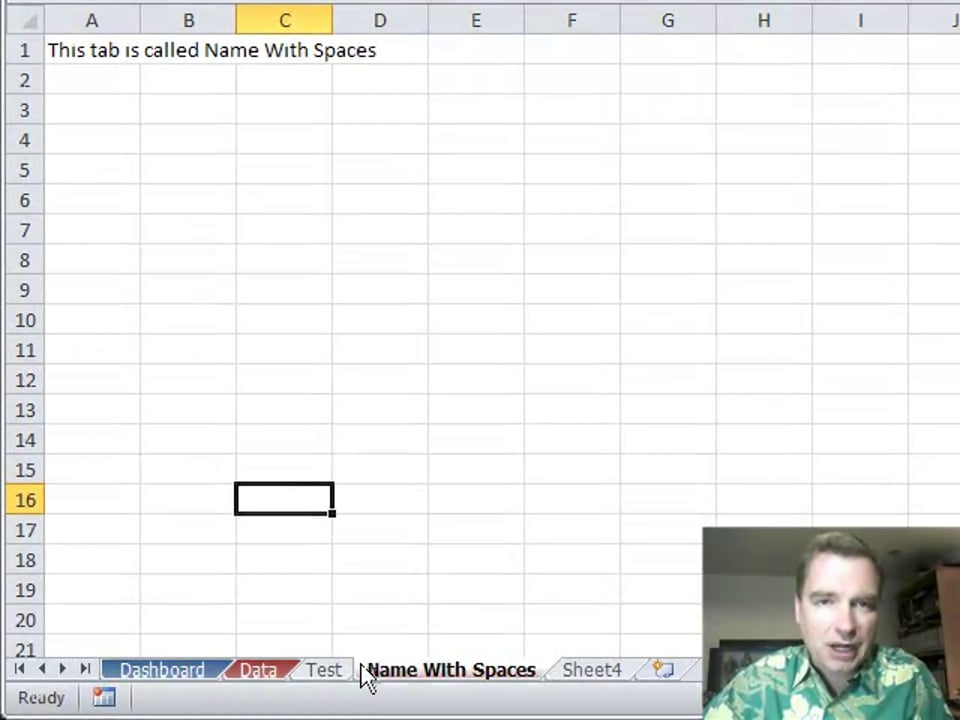 Excel Video 250 Changing Multiple Tabs at Once