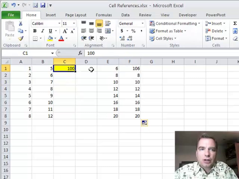 Excel Video 252 Relative Cell References
